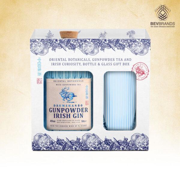 Drumshanbo Gunpowder Irish Gin Singapore bevbrands singapore golden clover singapore Drumshanbo Gunpowder Irish Gin with Glass Gift Box-sq org bb