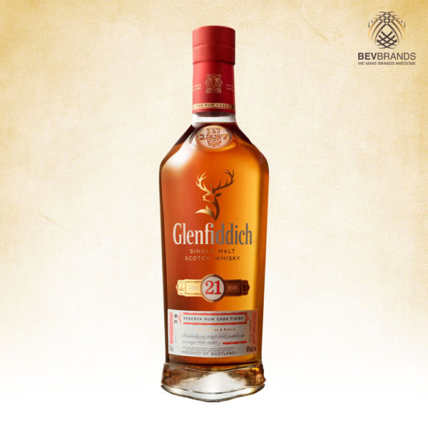 Glenfiddich Whisky Singapore bevbrands singapore golden clover singapore Glenfiddich 21 Year Old Reserva Rum Cask Finish Scotch Whisky-sq org bb