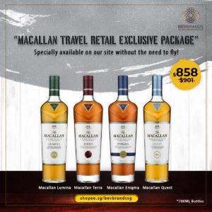 bevbrands singapore golden clover singapore The Macallan Whisky Singapore The Macallan Travel Retail Exclusive Package (Lumina, Terra, Enigma, Quest) Scotch Whisky-02