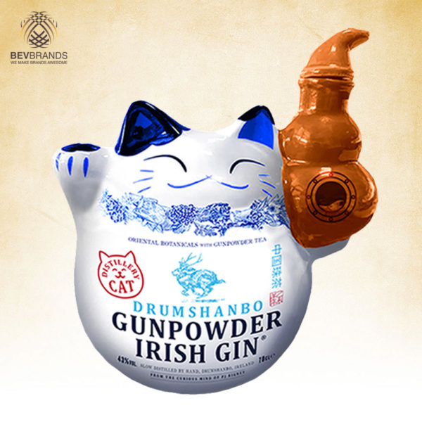 Drumshanbo Gunpowder Irish Gin Singapore bevbrands singapore golden clover singapore Drumshanbo Gunpowder Irish Gin Limited Edition Exclusive Distillery Cat Bottle-sq org bb