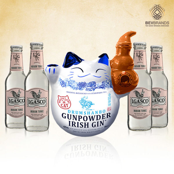 bevbrands singapore golden clover singapore J.GASCO indian tonic singapore Drumshanbo Gunpowder Irish Gin Limited Edition Cat Bottle - sq org bb