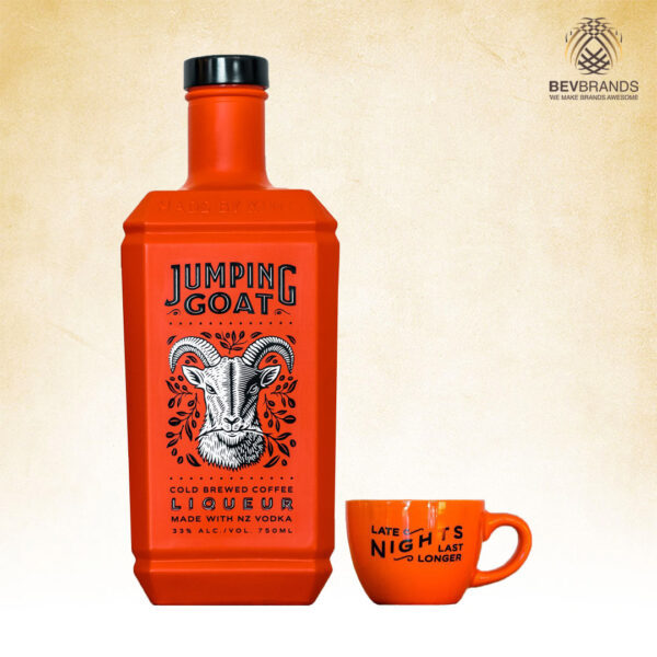 Jumping Goat-NZ Vodka w Gift Cup by bevbrands singapore golden clover singapore